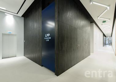 Entra doors at  LPP company main buildin